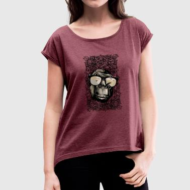 Camel Rides Camel - Women's T-Shirt with rolled up sleeves