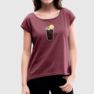 cola - Women's T-Shirt with rolled up sleeves