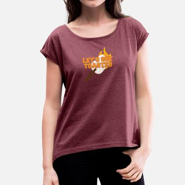 Camping Caravan Camping, Caravan, Camping, Nature, Camping - Women's T-Shirt with rolled up sleeves