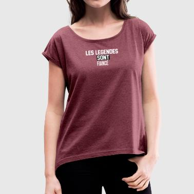 fiance - Women's T-Shirt with rolled up sleeves