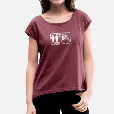Motorcycle Racing Motorcycle - racing motorcycle problem and solution - Women's T-Shirt with rolled up sleeves