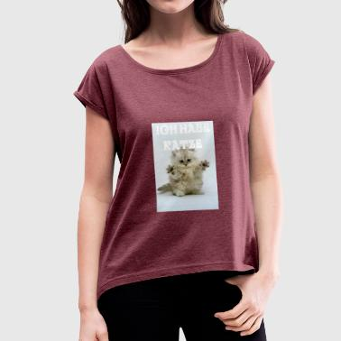 Dearest I have cat dearest cat - Women's T-Shirt with rolled up sleeves
