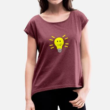 Ollie Olli pear - cheeky happy - Women's T-Shirt with rolled up sleeves