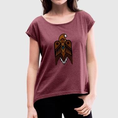 Golden Eagle - Women's T-Shirt with rolled up sleeves