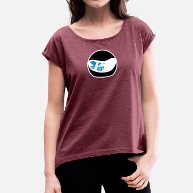 Reflect Helmet with reflection - Women's T-Shirt with rolled up sleeves