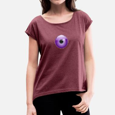 Pupil Eye Pupil purple - Women's T-Shirt with rolled up sleeves