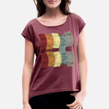 Vintage flag - Women's Rolled Sleeve T-Shirt