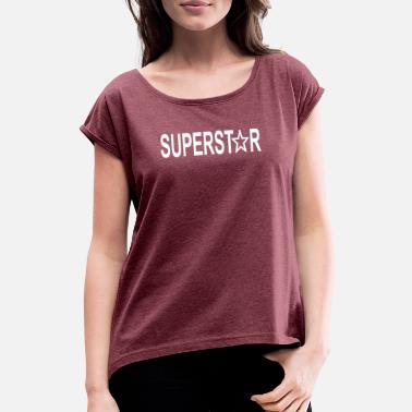 Superstar Superstar white - Women's Rolled Sleeve T-Shirt