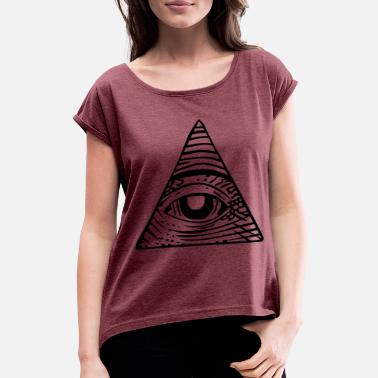 Triangle Illuminati - Women's Rolled Sleeve T-Shirt