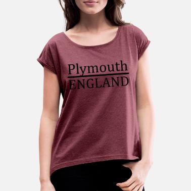 Plymouth Plymouth Angleterre - T-shirt à manches retroussées Femme
