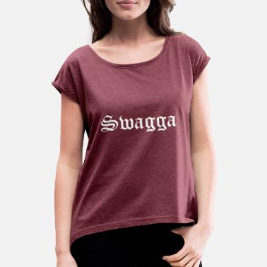 Otros Swagga swagga - Camiseta con manga enrollada mujer fca65be6364