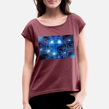Intelligence Artificial Intelligence - Women's Rolled Sleeve T-Shirt