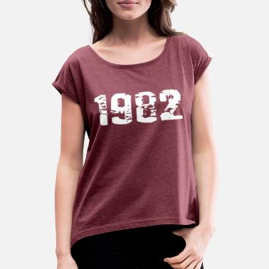 Year Of Birth Year of birth - Women's Rolled Sleeve T-Shirt