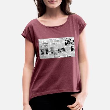 Pirate Irish pirate radio closedowns - Women's Rolled Sleeve T-Shirt