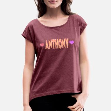 Anthony Anthony - T-shirt med upprullade ärmar dam