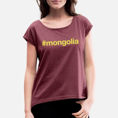 Mongolia MONGOLIA - Women's T-Shirt with rolled up sleeves