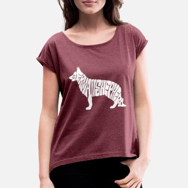 German Shepherd Dog German shepherd dog, german shepherd - Women's T-Shirt with rolled up sleeves