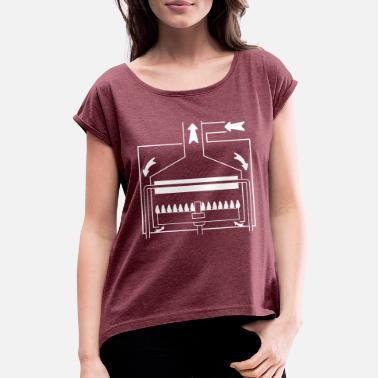Boiler Boiler with a sealed chamber - Women's Rolled Sleeve T-Shirt
