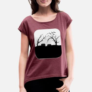 Graveyard Graveyard - Women's T-Shirt with rolled up sleeves