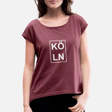 Cologne Cologne for Cologne and Cologne - Women's T-Shirt with rolled up sleeves