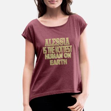 Alessia Alessia - Women's Rolled Sleeve T-Shirt