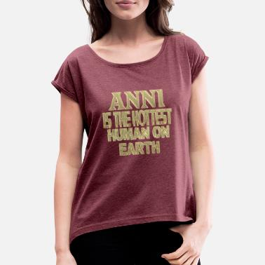 Anni Anni - Women's T-Shirt with rolled up sleeves