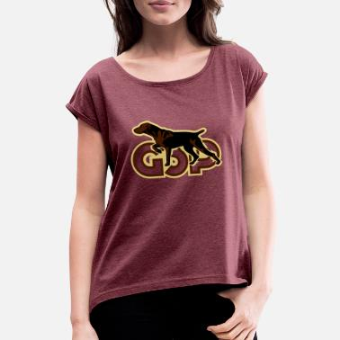 Pointer gsp_german_shorhaired_pointer - Women's Rolled Sleeve T-Shirt