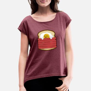 Speck & Toast EGG, SPECK TOAST - Women's Rolled Sleeve T-Shirt