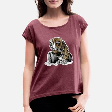 Gym gorilla - Women's Rolled Sleeve T-Shirt