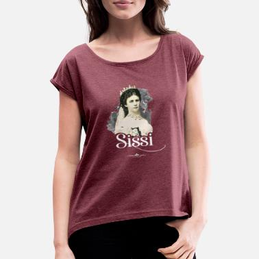 Amalie Sissi - Empress of Austria, Queen v. Hungary - Women's Rolled Sleeve T-Shirt