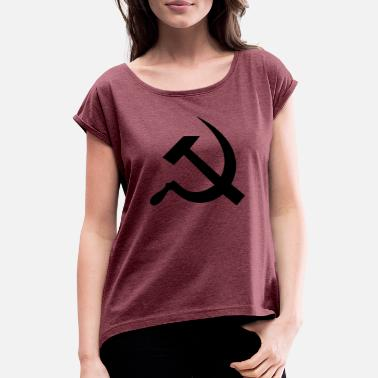 Cccp hammer_and_sickle - Camiseta con manga enrollada mujer