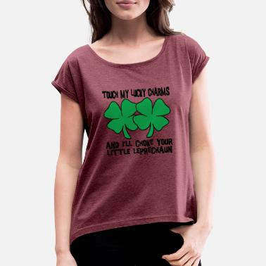 Charms Irish My Lucky Charms Saint Patrick's Day - Women's Rolled Sleeve T-Shirt