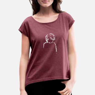 Thoughtful Thoughts - Women's T-Shirt with rolled up sleeves