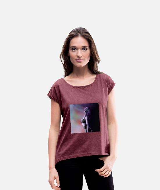 Nocturnal T-Shirts - Mysterious lady - Women's Rolled Sleeve T-Shirt heather burgundy
