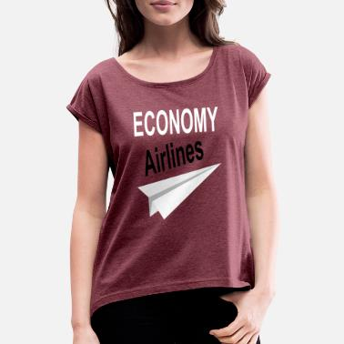 Airline airlines - Women's Rolled Sleeve T-Shirt