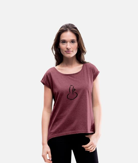 Party T-Shirts - Bong - Women's Rolled Sleeve T-Shirt heather burgundy
