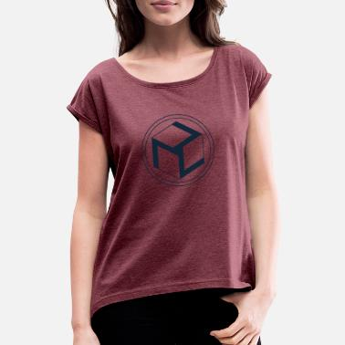Antahkarana Antahkarana Symbol, Sacred Geometry - Women's T-Shirt with rolled up sleeves