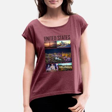 State United States - United States - Women's Rolled Sleeve T-Shirt
