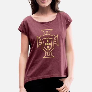 Portugal Le motif de Quina - T-shirt à manches retroussées Femme cf84ce9902e4