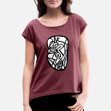 Emblem emblem - Women's Rolled Sleeve T-Shirt