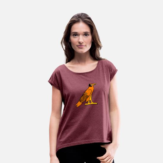 Usa T-Shirts - eagle91 - Women's Rolled Sleeve T-Shirt heather burgundy