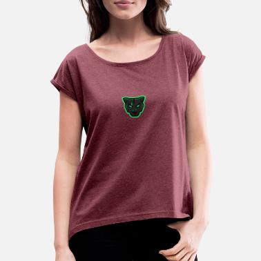 Mascot Panther Mascot - Women's Rolled Sleeve T-Shirt