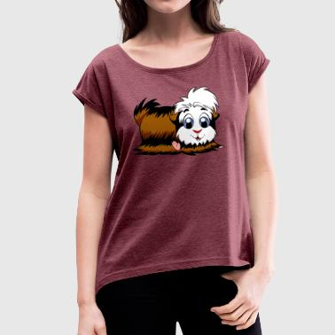 Steppi MEERCHWEINCHEN - Women's T-shirt with rolled up sleeves