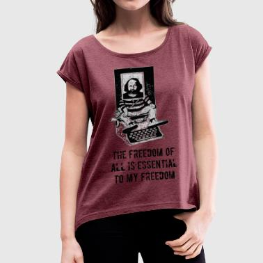 Mikhail Bakunin - Women's T-shirt with rolled up sleeves