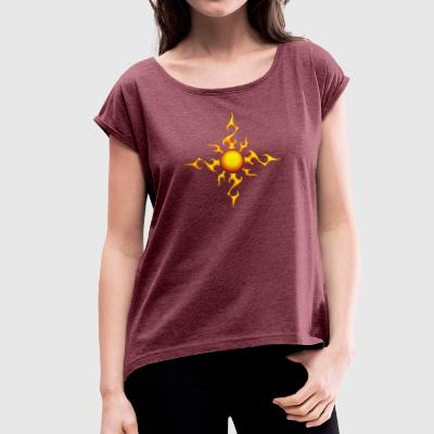 Sun - Women's T-shirt with rolled up sleeves