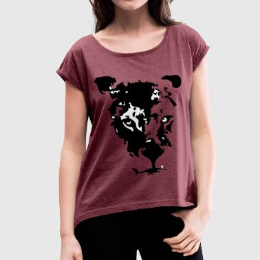 Maouli the lioness - Women's T-shirt with rolled up sleeves
