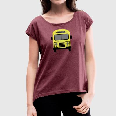 school - Women's T-shirt with rolled up sleeves
