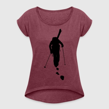 freeride skiing - Women's T-shirt with rolled up sleeves