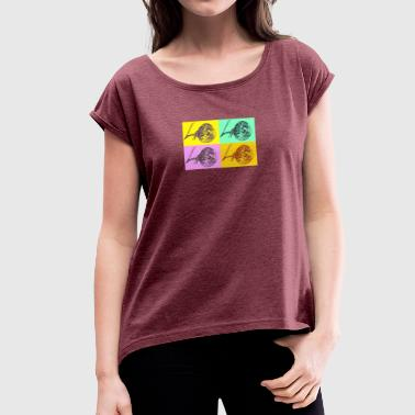 40 years - Women's T-shirt with rolled up sleeves