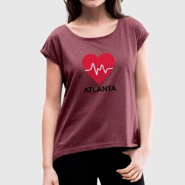 heart Atlanta - Women's T-shirt with rolled up sleeves